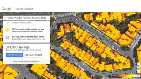 Google Project Sunroof shows how much solar juice is on your roof, no math needed | Auto Shop Marketing Help Summer 2015 | Scoop.it