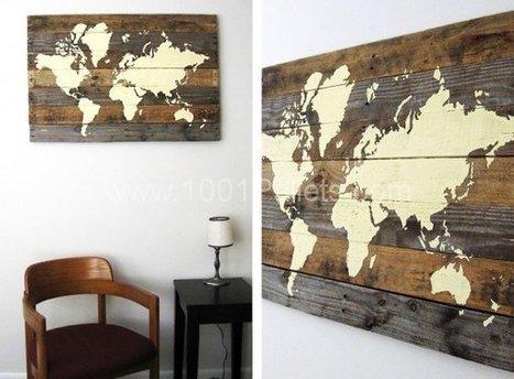 Pallet Board World Map | 1001 Pallets | DIY | Scoop.it