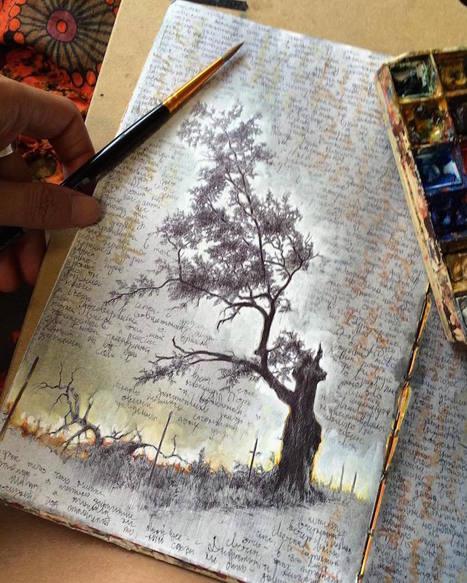 Inside the Well-Traveled Sketchbooks of Artist Dina Brodsky   Amazing art!   Scoop.it