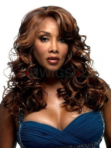 Cheap 20 Lace Front Long Wavy Synthetic Wig | Cheap Wigs Online Shopping at Auwigsale.com | Scoop.it