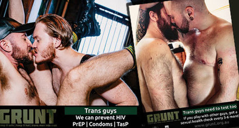 Bold sexual health campaign 'Grunt' targets gay, bi and queer trans men | Gay News | Scoop.it