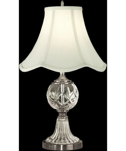 """Dale Tiffany 23""""h 1-Light 3-Way Glass Table Lamp Pewter 