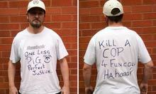 Manchester man jailed over anti-police T-shirt worn after PC killings | Political world | Scoop.it