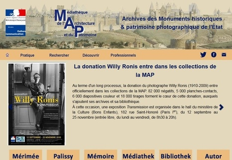 MAP : Médiathèque de l'Architecture et du Patrimoine | CGMA Généalogie | Scoop.it