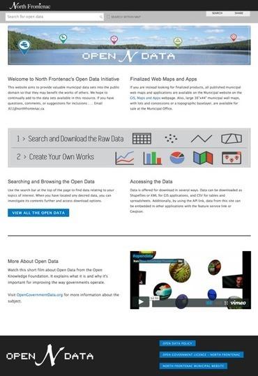 Open Data Site of the Week: North Frontenac | Open Data | Scoop.it