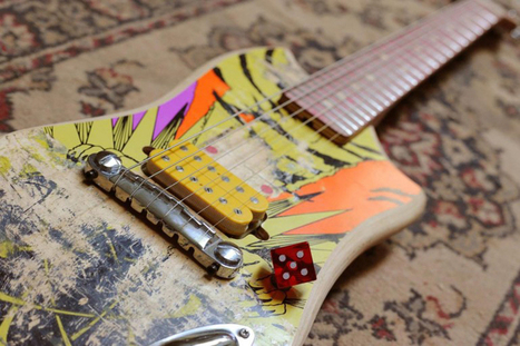 Reclaimed skateboard decks transformed into electric guitars | Design Stories | Scoop.it