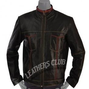 Cafe Racer Black Biker Leather Jacket   Men's Leather Jackets   Scoop.it