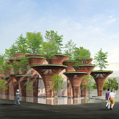 "Vo Trong Nghia plans bamboo ""lotus pods"" for Vietnam's expo pavilion 
