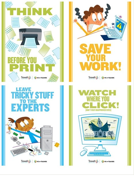 8 Must Have Classroom Posters for Technology Best Practices ~ Educational Technology and Mobile Learning | Ideas 4 teachers | Scoop.it