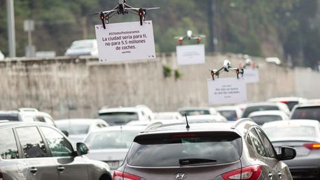 Quand Uber utilise des drones pour faire de la pub - Tech - Numerama | Une nouvelle civilisation de Robots | Scoop.it