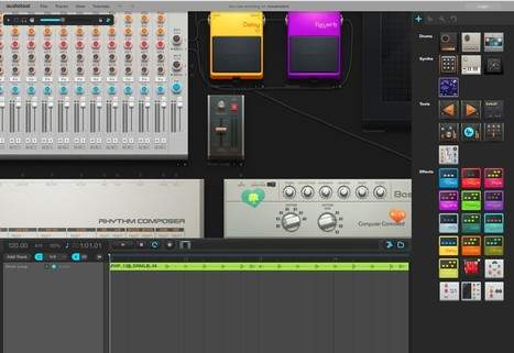 The tonematrix, a pentatonic step sequenzer by Audiotool | veille cyber-base | Scoop.it