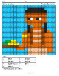 Native American- Holiday Subtraction | Coloring Squared | Scoop.it