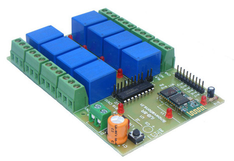 Bluetooth relay board iUB-BT8R for your projects. iknowvations.in | Serial LCD | Scoop.it