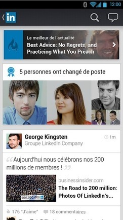LinkedIn met à jour son application mobile | MODE ET TOTAL LOOK | Scoop.it