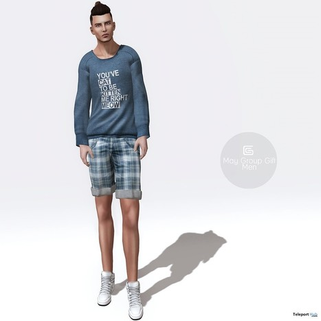 Blue Sweater and Shorts For Men Group Gift by Gizza Creations | Teleport Hub - Second Life Freebies | Second Life Freebies | Scoop.it