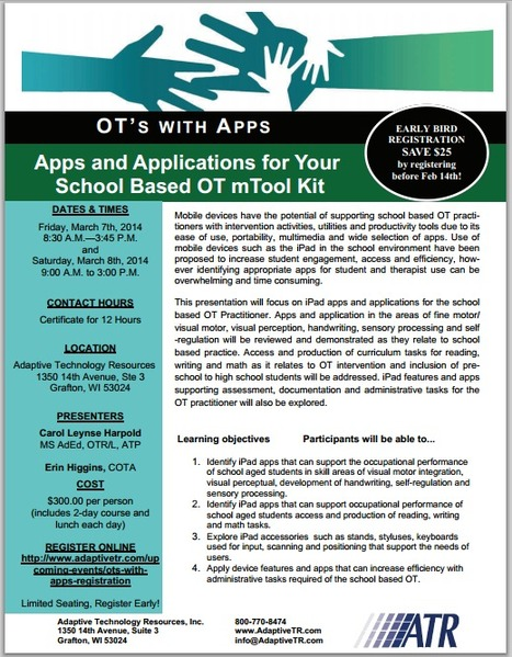 OT's with Apps for the School Based OT Workshop - March 7-8, 2014 | OT mTool Kit | Scoop.it