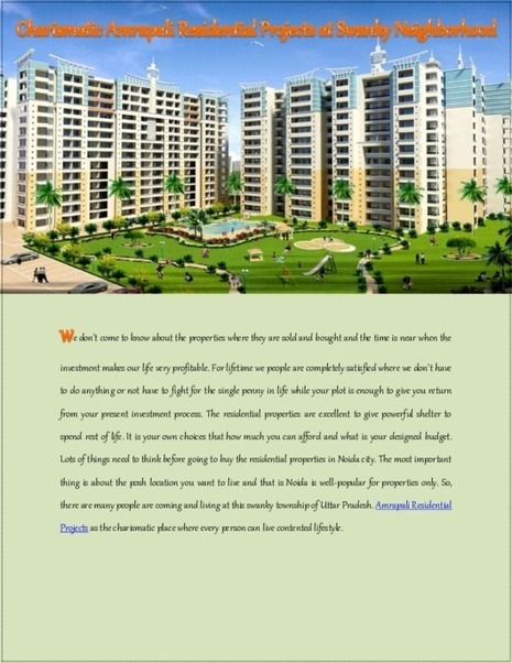 Amrapali Residential Projects, Best Residential Property in Noida | Amrapali Residential Property | Scoop.it