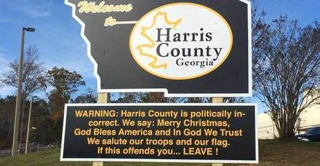 "Sheriff Puts Up Official Sign ""WARNING"" People Who Disagree with Him to LEAVE! 