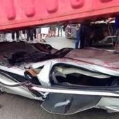 Un coche queda aplastado a 60 centímetros del suelo y sus ocupantes salen ilesos | Seguridad Vial | Scoop.it