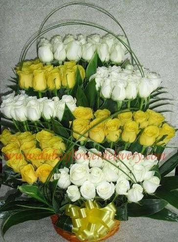 A Big Bouquet of 101 Yellow White Roses | Get the Best Expected Service | Scoop.it