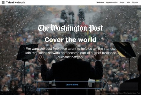 The Washington Post unveils Talent Network | Journalism: the citizen side | Scoop.it