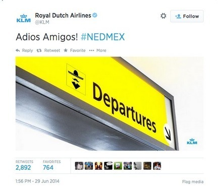 KLM Tweet during the Word Cup and Humor on Social Media | Crisis Communications | Scoop.it