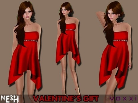Mesh Silky Valentine's Dress by voxxi   Teleport Hub   Second Life Freebies   Scoop.it
