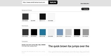 Get a quick overview of a page's style with Stylify Me | ManageMyDream | Scoop.it