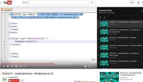 Curso de JavaScript básico gratuito compuesto por 32 vídeos   Educativas   Scoop.it