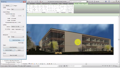 Revit 2017 features Daylight Rendering to render a view with Sunlight | BIM Forum | Scoop.it