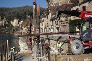 Un impressionnant chantier sur les rives de la Dordogne à La Roque-Gageac (24) | BIENVENUE EN AQUITAINE | Scoop.it