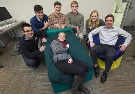 Blue Valley students build chairs that snuggle children with autism into calm | Sensory Activities | Scoop.it