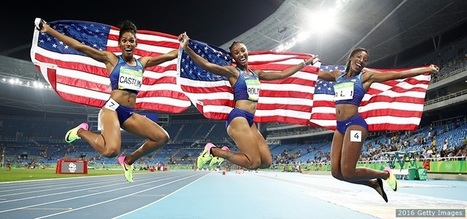 100-Meter Hurdlers Brianna Rollins, Nia Ali and Kristi Castlin Claim USA's 1st-Ever Women's Track & Field Olympic Sweep | Community Village Daily | Scoop.it