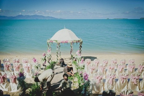 Andrea + Eric | Koh Samui Destination Wedding | Bandara Resort ... | All About Beach Weddings | Scoop.it