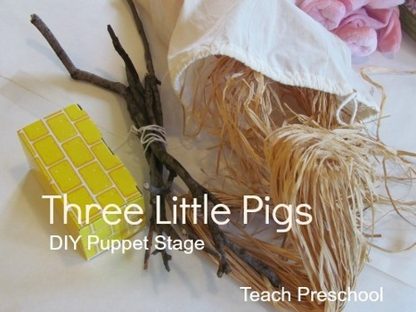 DIY table top puppet stage and The Three Little Pigs | Teach Preschool | Scoop.it