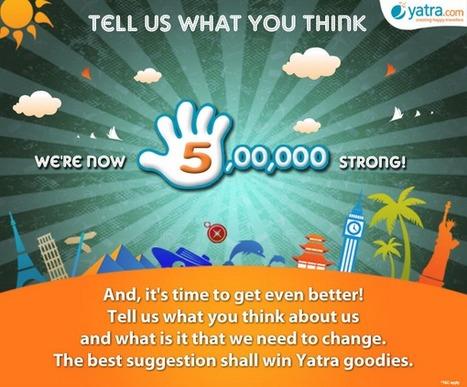 Yatra Celebrates 500K Milestone In A Smart Way | Business 2 Community | Digital-News on Scoop.it today | Scoop.it
