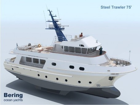 New Steel Ocean Going Motor Yacht Bering 75´
