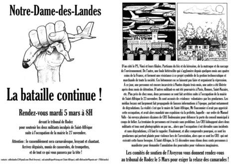 Rodez : soutien à 2 militants inculpés à Saint Affrique - ZAD   Shabba's news   Scoop.it