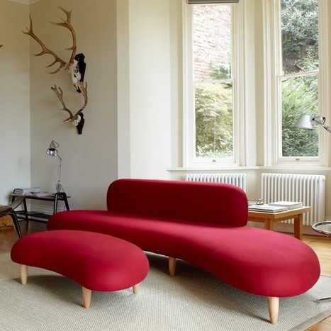 Noguchi Sofa & Ottoman - Sofas - Living - Blue Sun Tree   DECORATION  DESIGN   Scoop.it