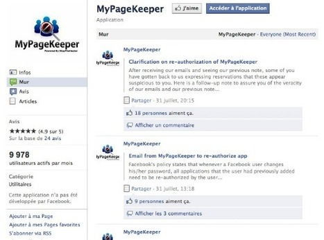 Sur Facebook, protégez-vous du phishing avec MyPageKeeker - Emilie Ogez | Time to Learn | Scoop.it