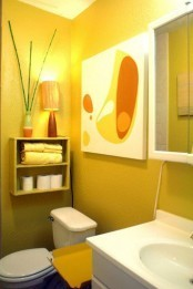 37 Sunny Yellow Bathroom Design Ideas | Interesting and Fascinating | Scoop.it