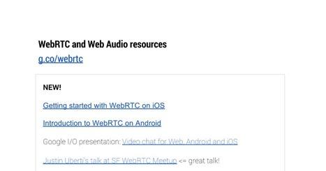 WebRTC and Web Audio resources | webrtc | Scoop.it