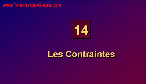 Les Contraintes | SQL Oracle | Cours Informatique | Scoop.it