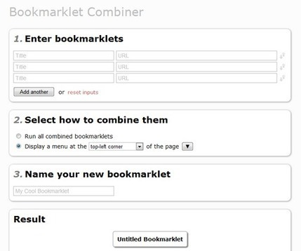 Bookmarklet Combiner - A Simple Online Tool To Combine Several Bookmarklets Into One | formation 2.0 | Scoop.it