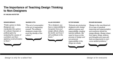 The importance of teaching design thinking to non-designers | Design Science Research | Scoop.it