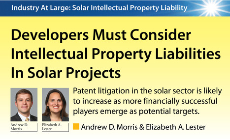 Developers Must Consider Intellectual Property Liabilities In Solar Projects | Copyright, IP and European Law | Scoop.it