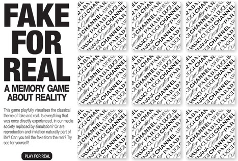 Fake For Real - a memory game about reality | Mediawijsheid in het VO | Scoop.it