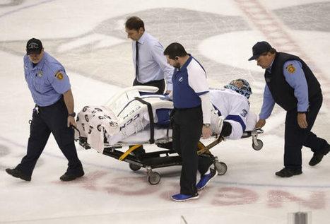 The Ben Bishop Lightning injured his left leg.   The Univers News - Latest Online News   Scoop.it