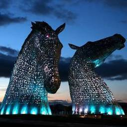 """This is awesome!  Two 30-tonne, 30-metre sculptures of horses' heads unveiled in Scotland"" 