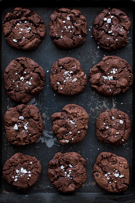 Black cookies au chocolat et fleur de sel | Carnets Parisiens | Passion for Cooking | Scoop.it